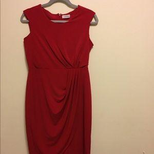 Calvin Klein Red Dress Sz 4